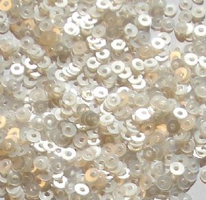 CLEARANCE Value Pack 50g 2mm Satin White Flat Round Sequins. SAVE £8